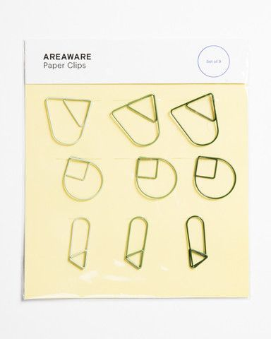 Paper Clips - Set of 9