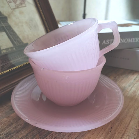 Pink Jadeite Tea Set by PROSE Tabletop