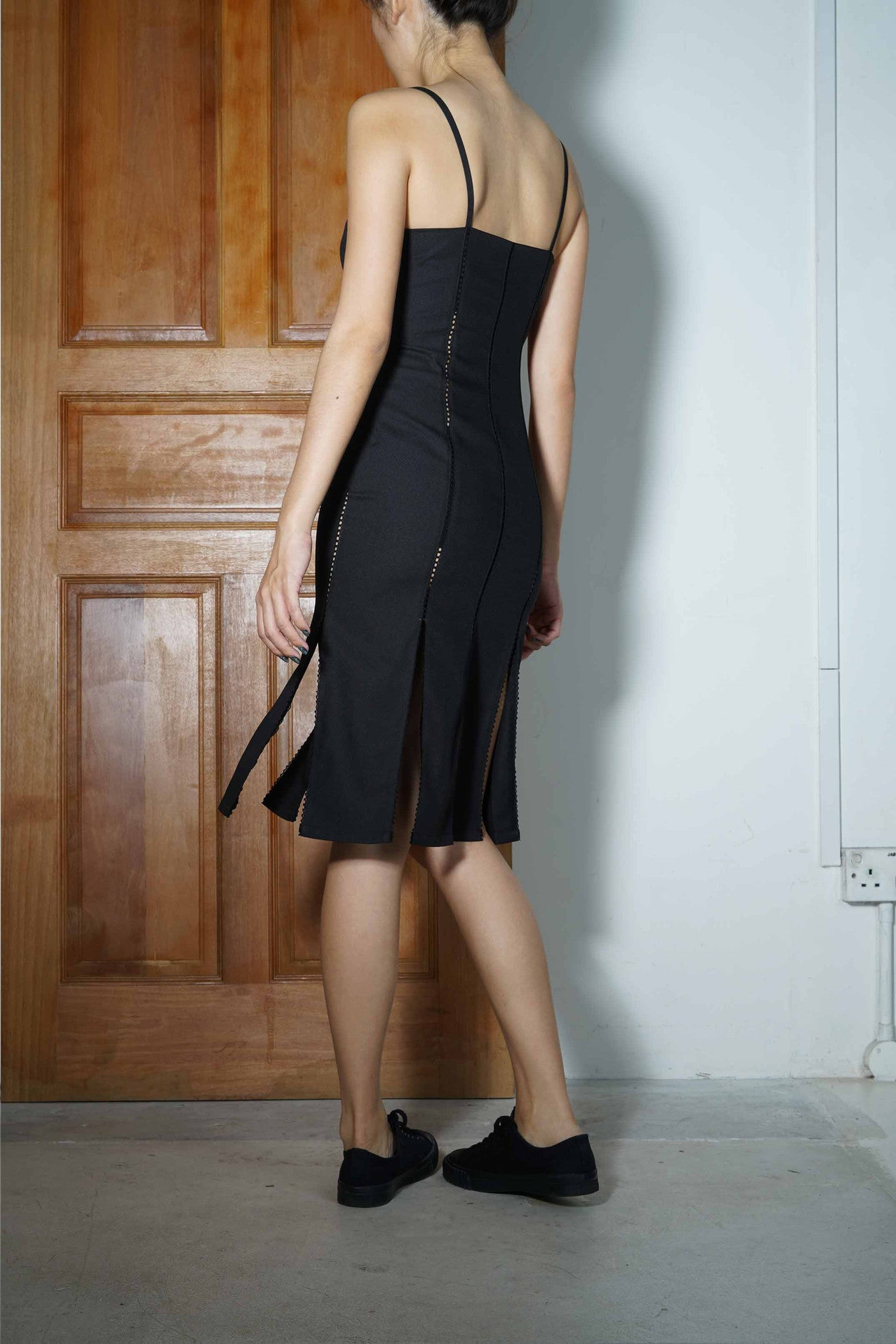 Peekapoo Peneled Slip Dress #67 - Black