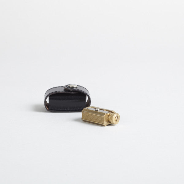 Adjustable Brass Sharpener with Leather case