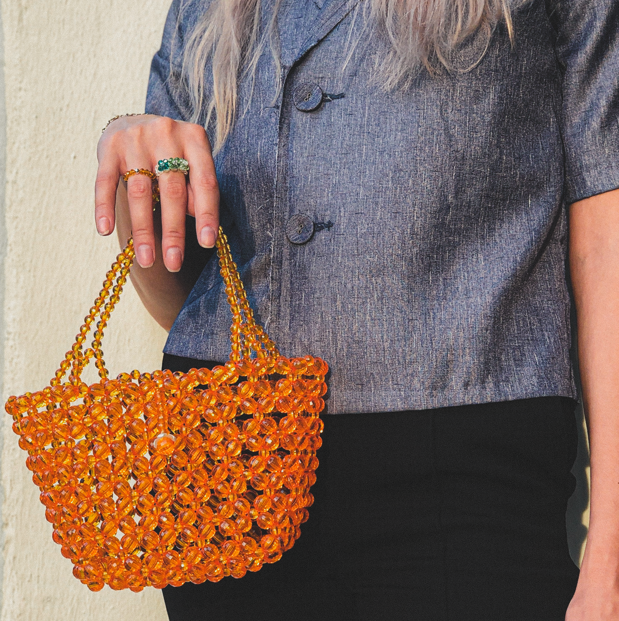 Clementine Beaded Bag by Veronique