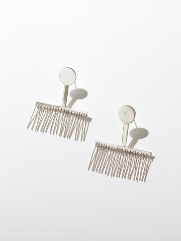 DOT EARLASHES - Silver