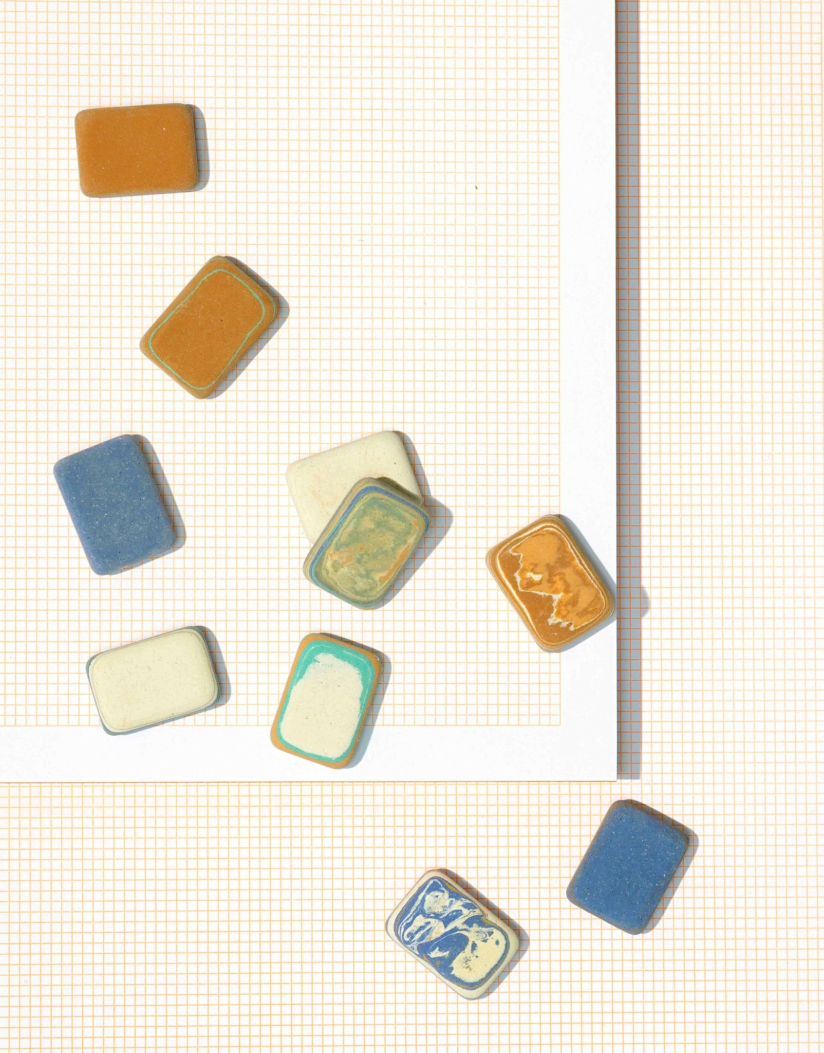 Mini Marbled Erasers