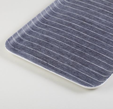 Navy & White Rectangle Linen Tray