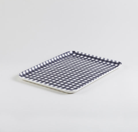 Black & White Rectangle Linen Tray