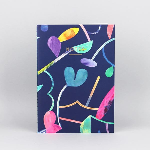 'Abstract Floral' Notebook - Medium