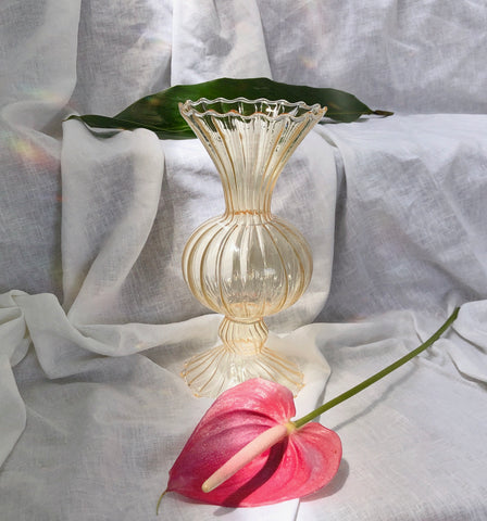 Handblown Apricot Glass Vase by PROSE Botanical