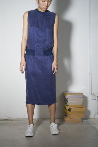Romance/Utility Cupro Dress in Cupro #04