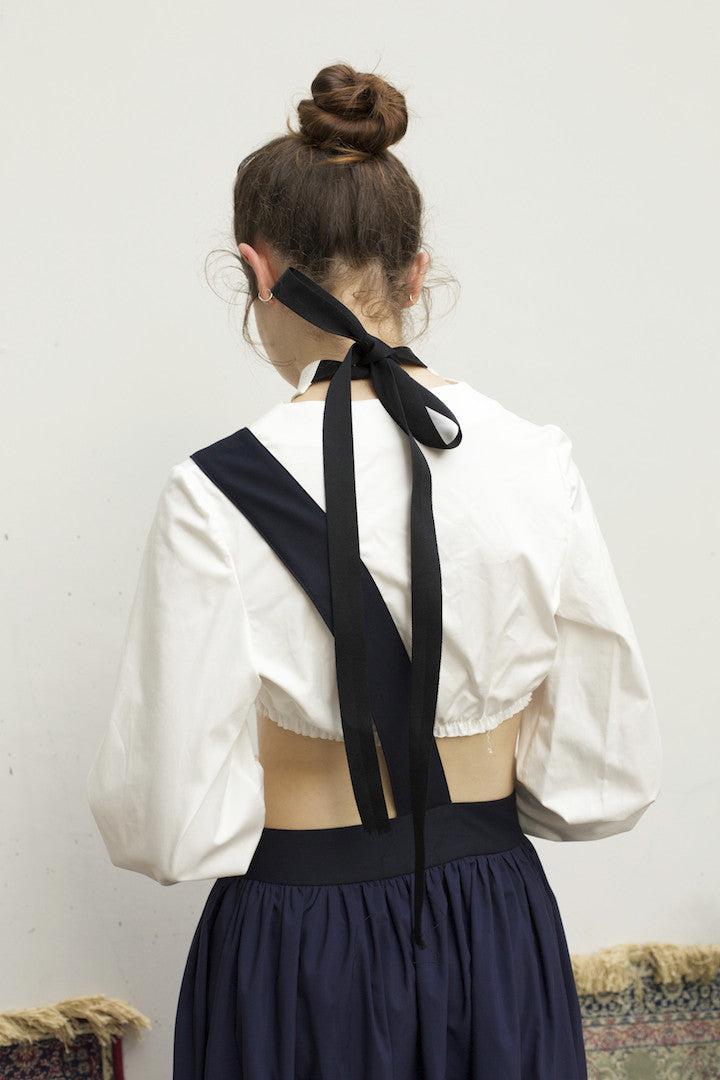 Sash In-n-Out Pinafore by Ultramarine