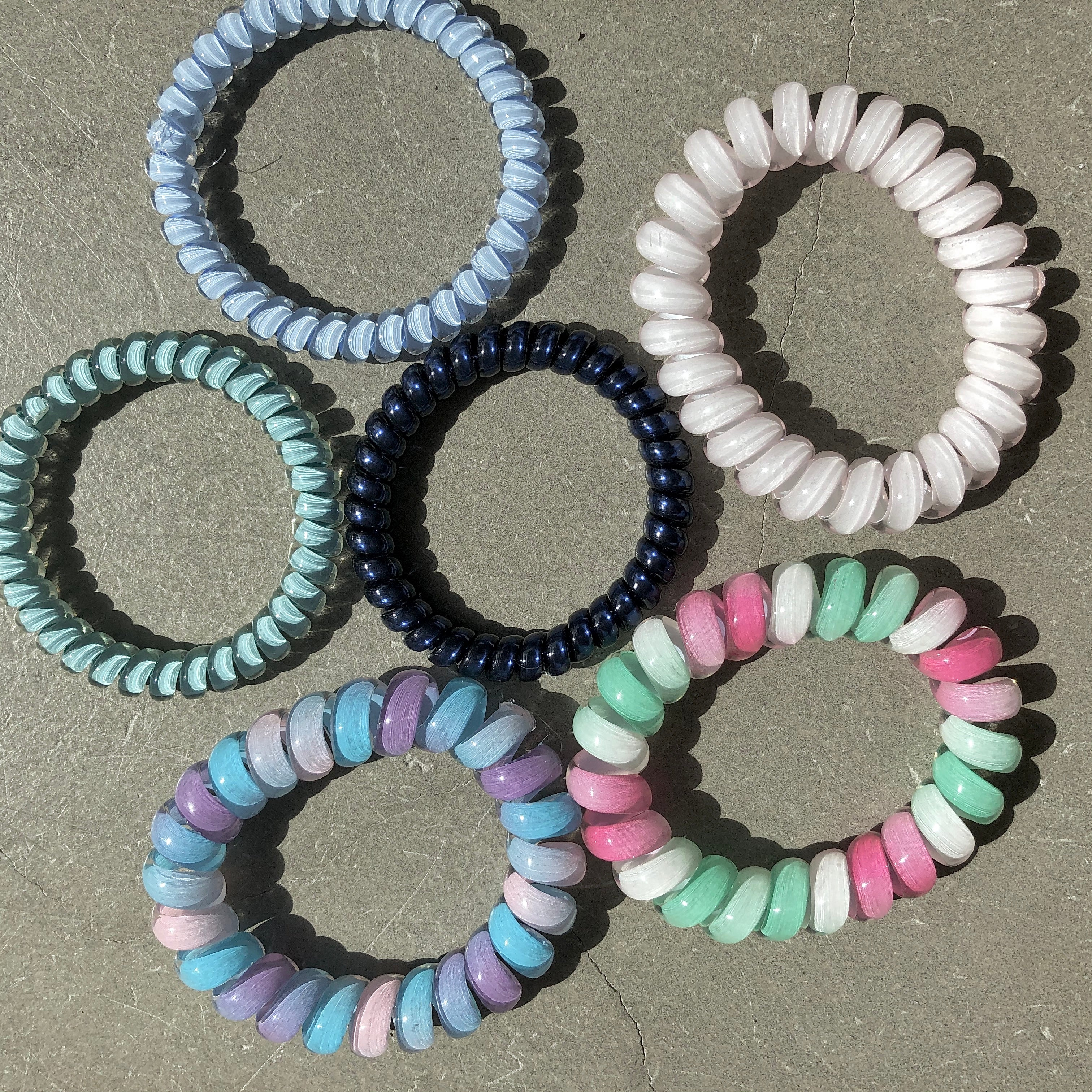 Veronique Curacao Phone Cord Hair Ties