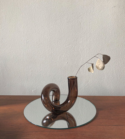 The Squiggle Candle Holder & Vase in Espresso by PROSE Décor