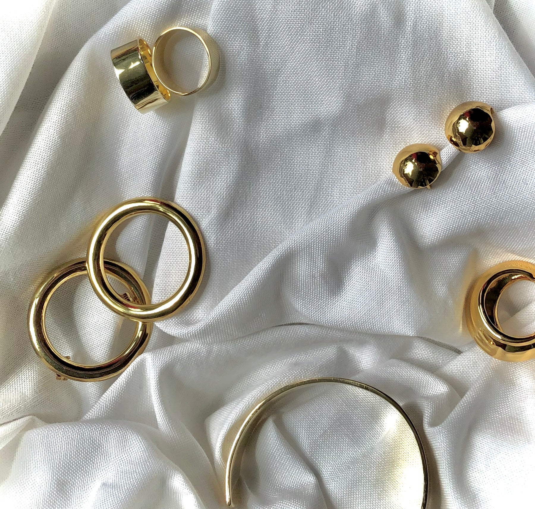 Thick Flat Band Rings by Veronique 925 Silver