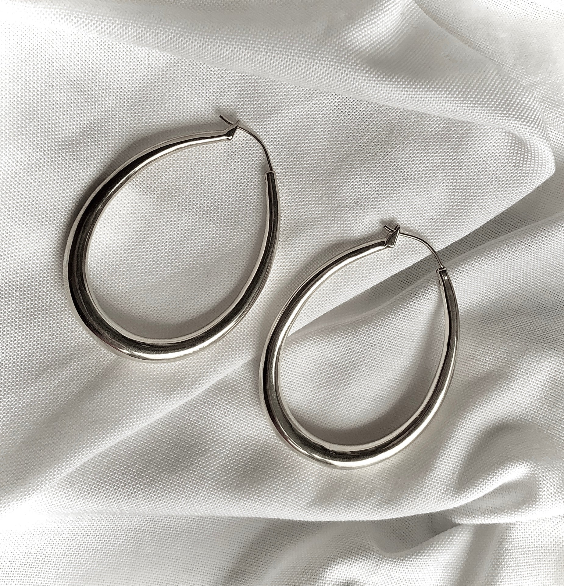 Teardrop Hoop Earrings by Veronique 925 Silver