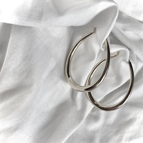 Teardrop Hoop Earrings by Veronique