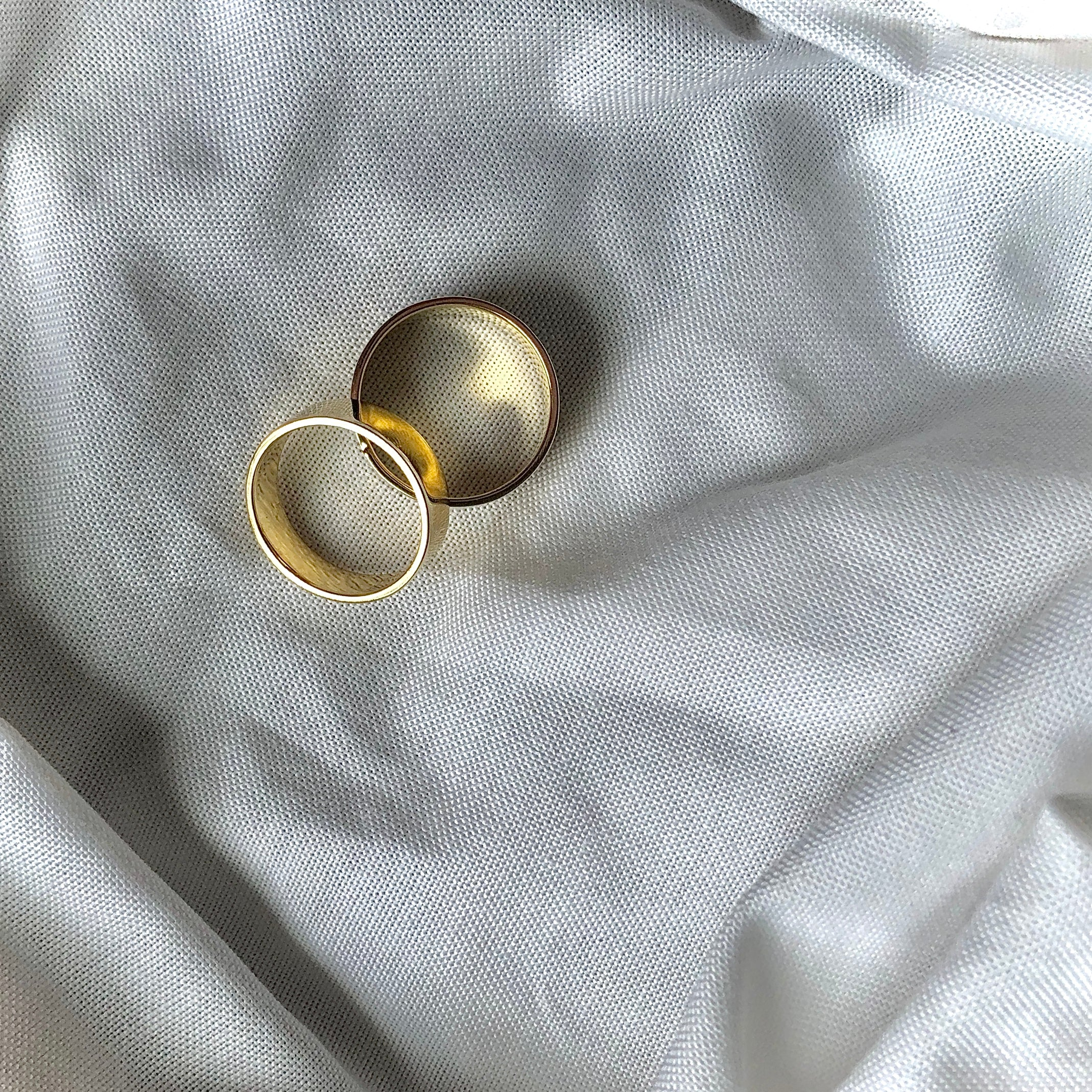 Slim Flat Band Rings by Veronique 925 Silver