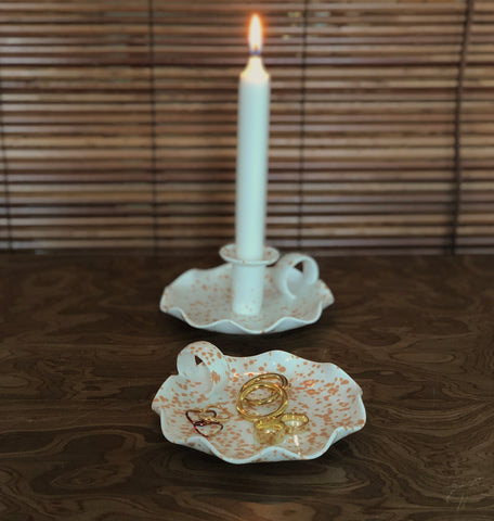 Speckled Candle Holder by Prose Décor