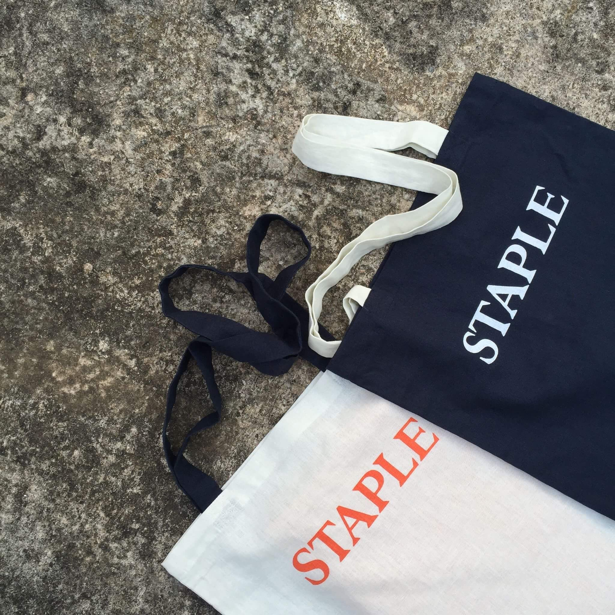 STAPLE x EoMM magazine tote bag - Navy