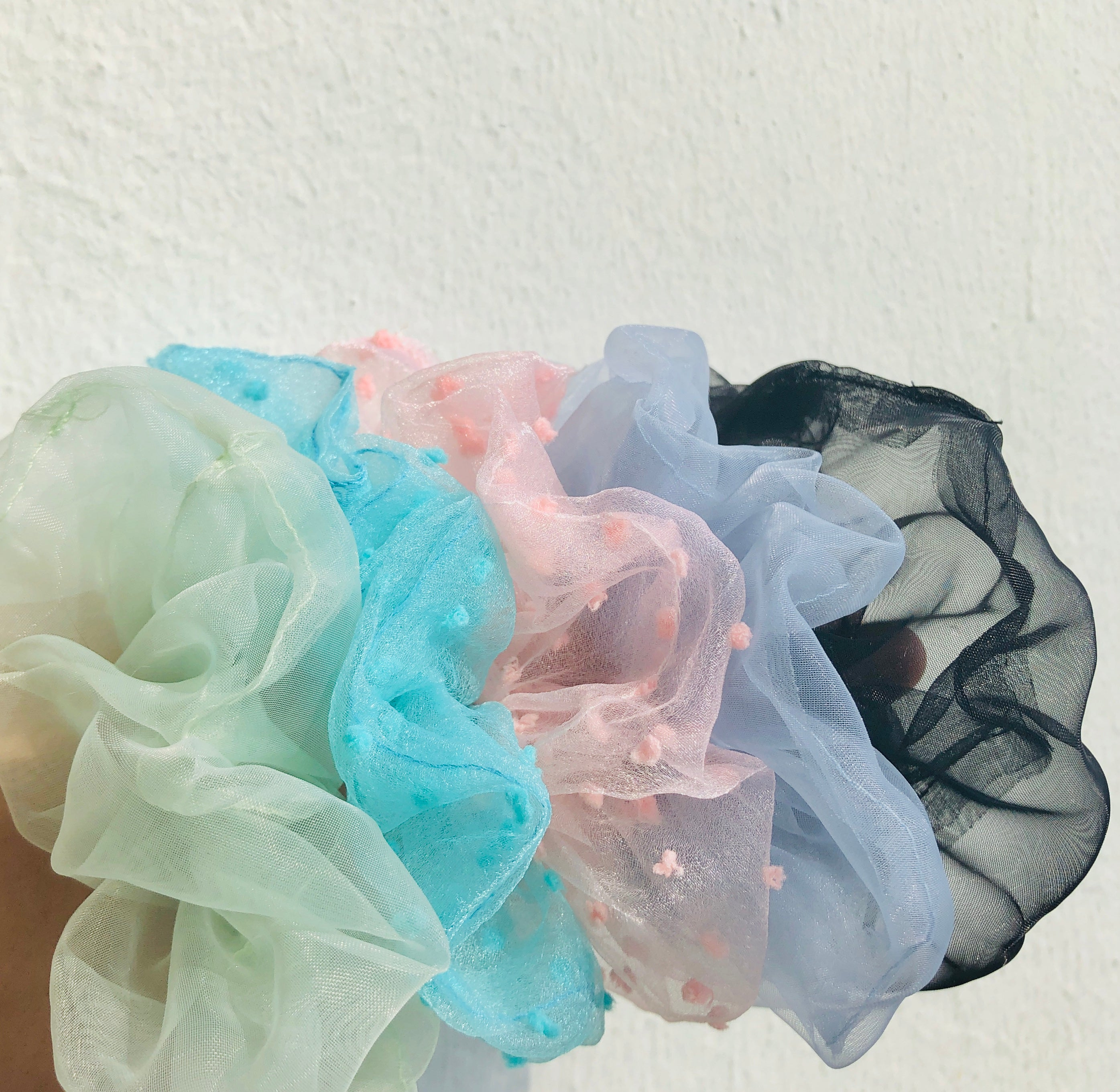 90s Textured Hair Scrunchies by Veronique