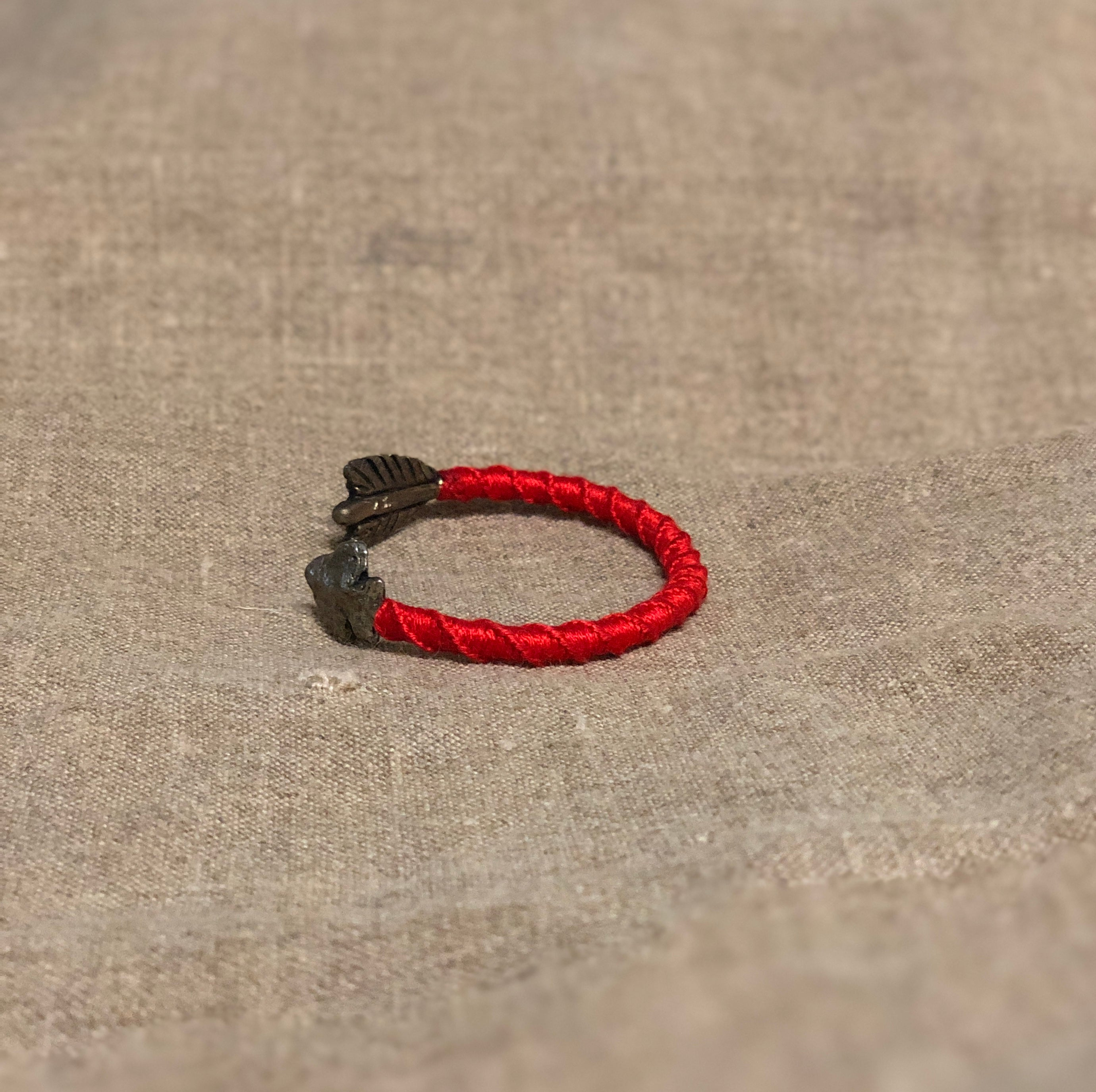 WRAPPED ARROWHEAD CUFF (Red) by George Frost