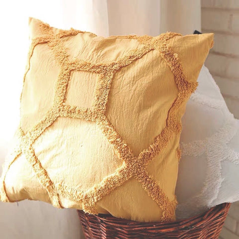 Woven Embroidered Cushion Cover by PROSE Décor