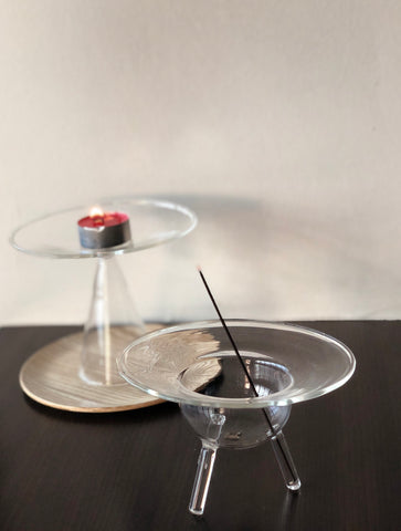 Glass Candle &  Incense Holder by Prose Décor