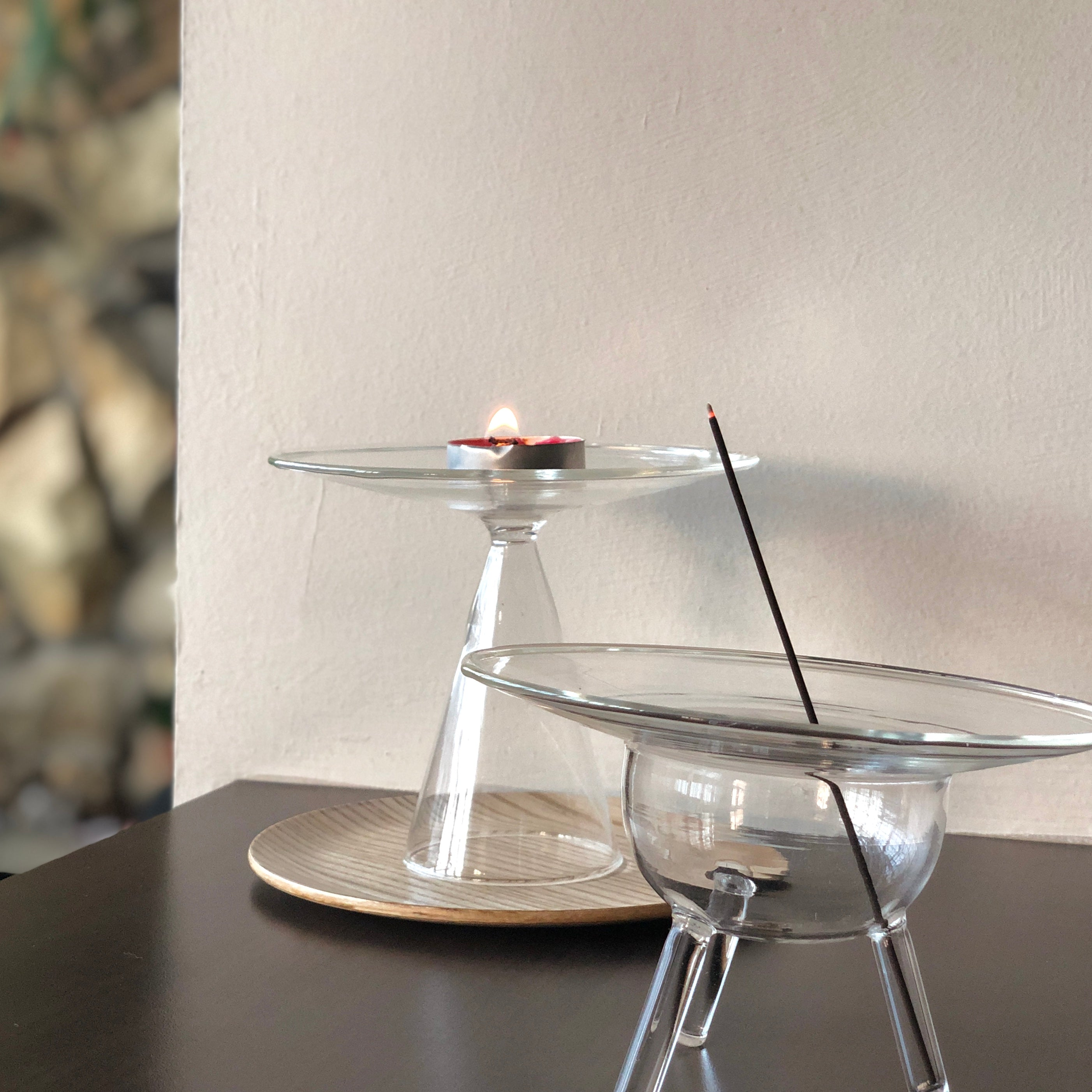 UFO Glass Incense Holder by Prose Décor