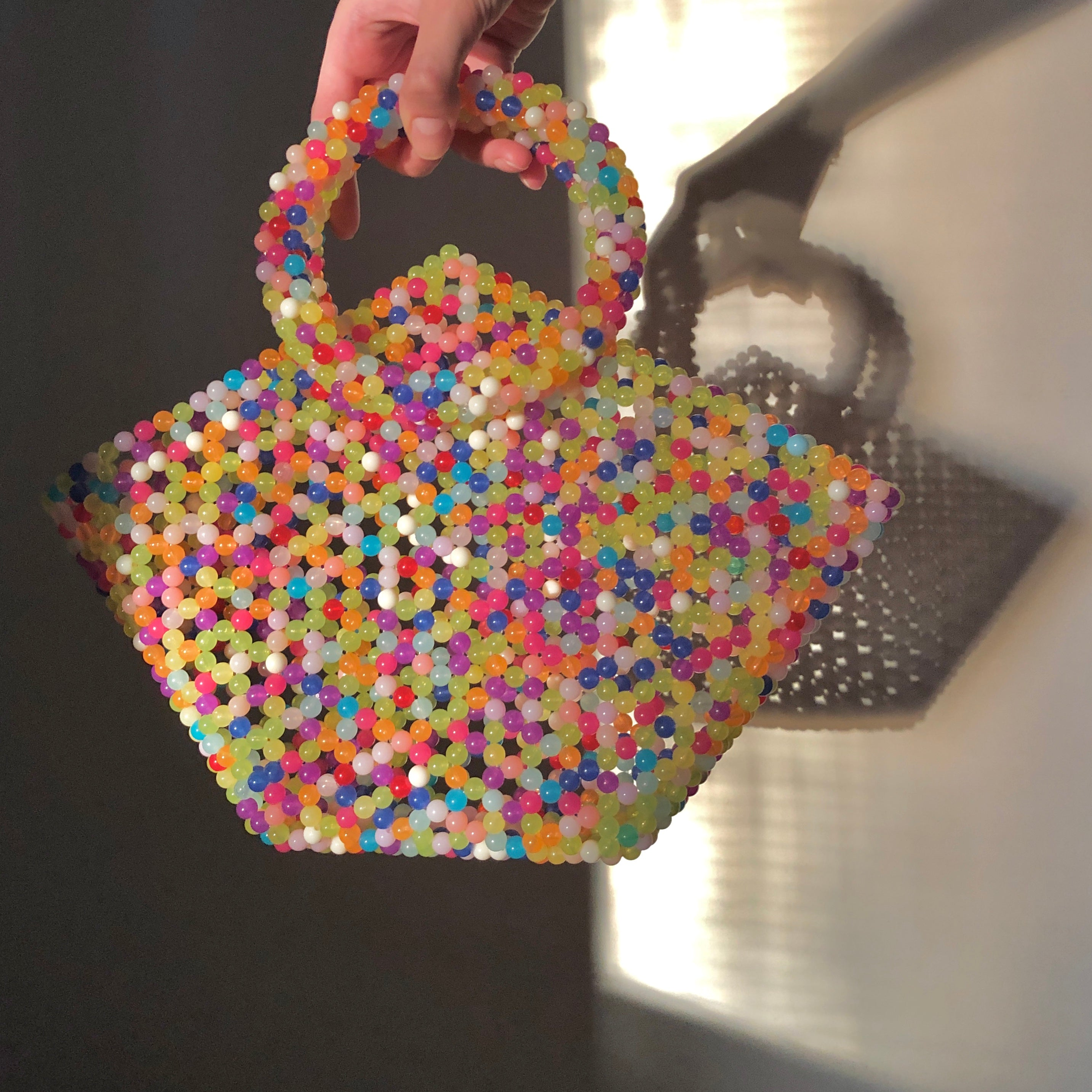 The Cyndi Beaded Shopper Bag by Veronique