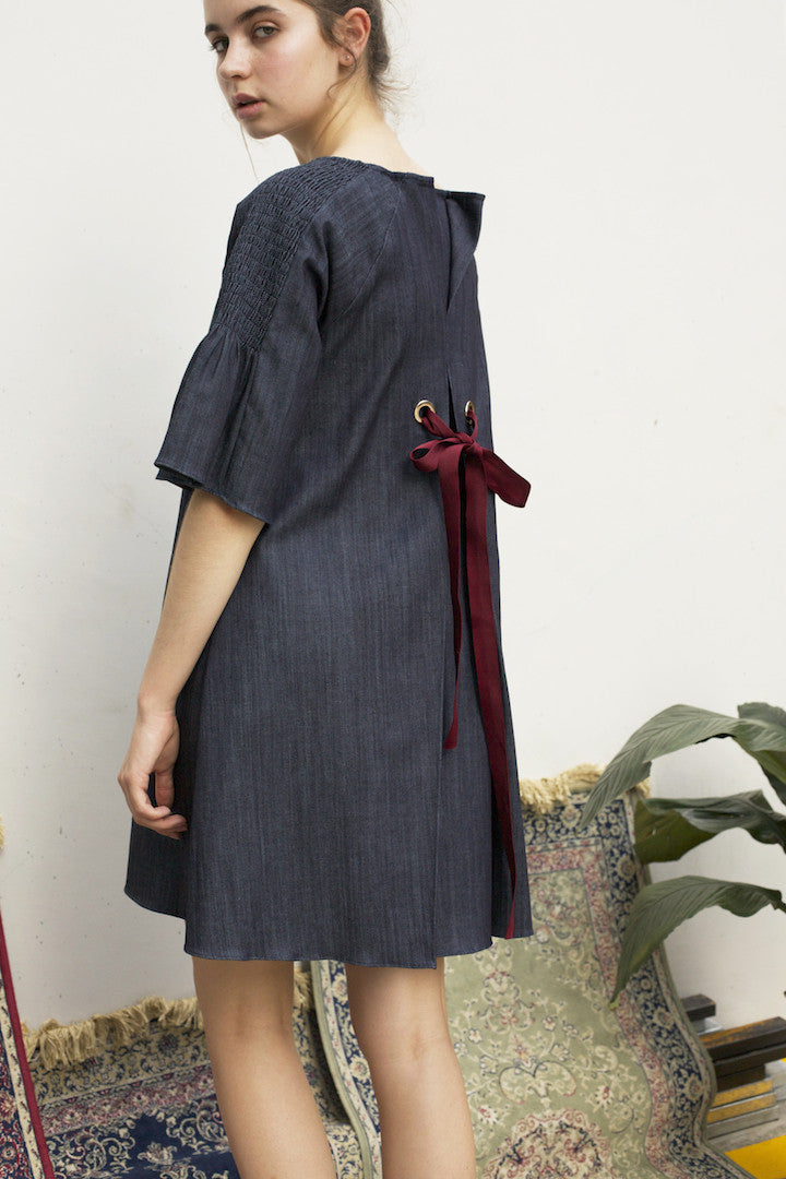 Lily of the Valley Denim Dress #73