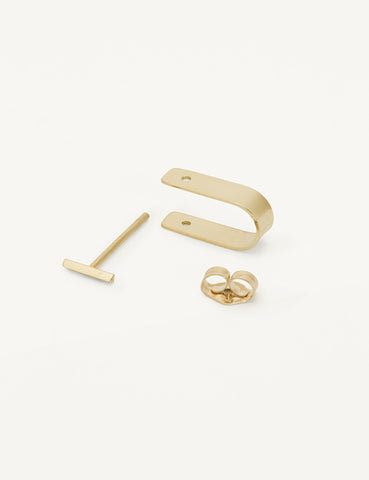Bevel stud and cuff
