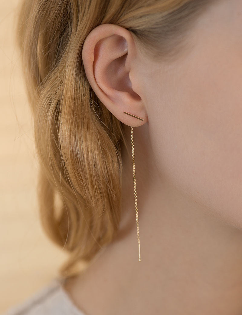 Staple and chain earring