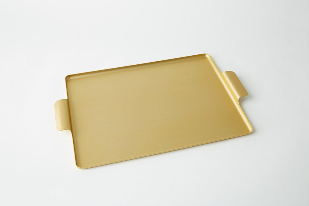 513 Gold Tea Tray - Medium
