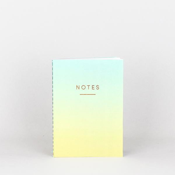 'Ombre' Notebook (Blue/Yellow)