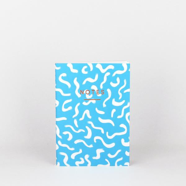 'Wiggle' Notebook (Bright Blue)