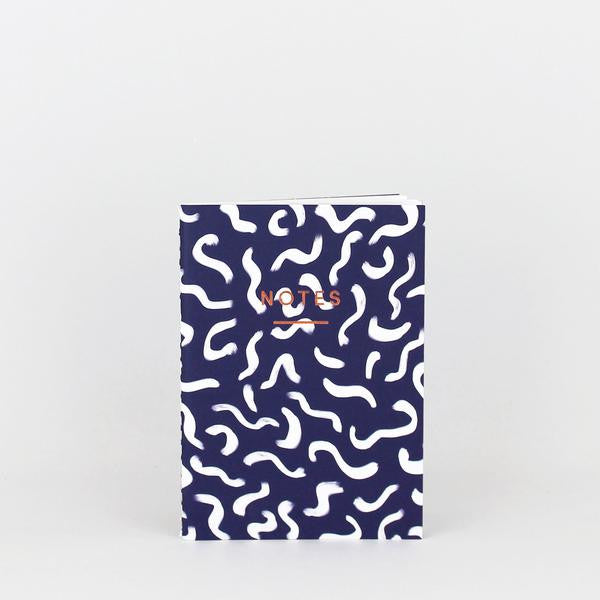 'Wiggle' Notebook (Navy)
