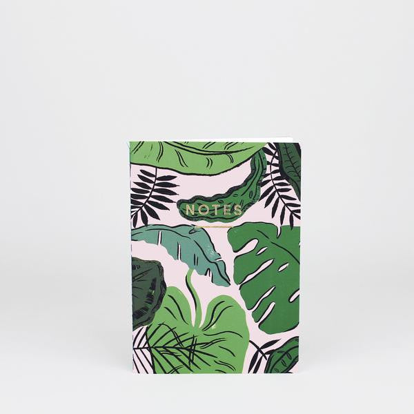 'Tropical Leaves' Notebook
