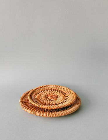 Handwoven Rattan Coasters (8CM)  by PROSE Tabletop