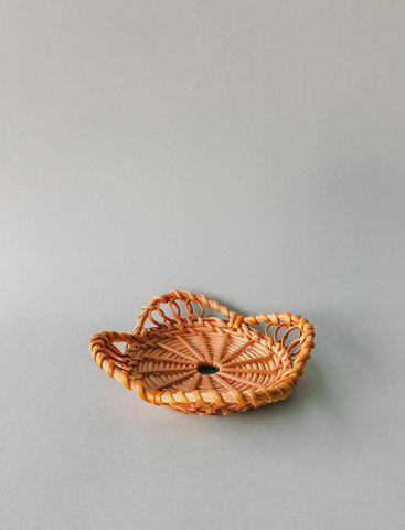 Handwoven Winged Rattan Coasters  by PROSE Tabletop
