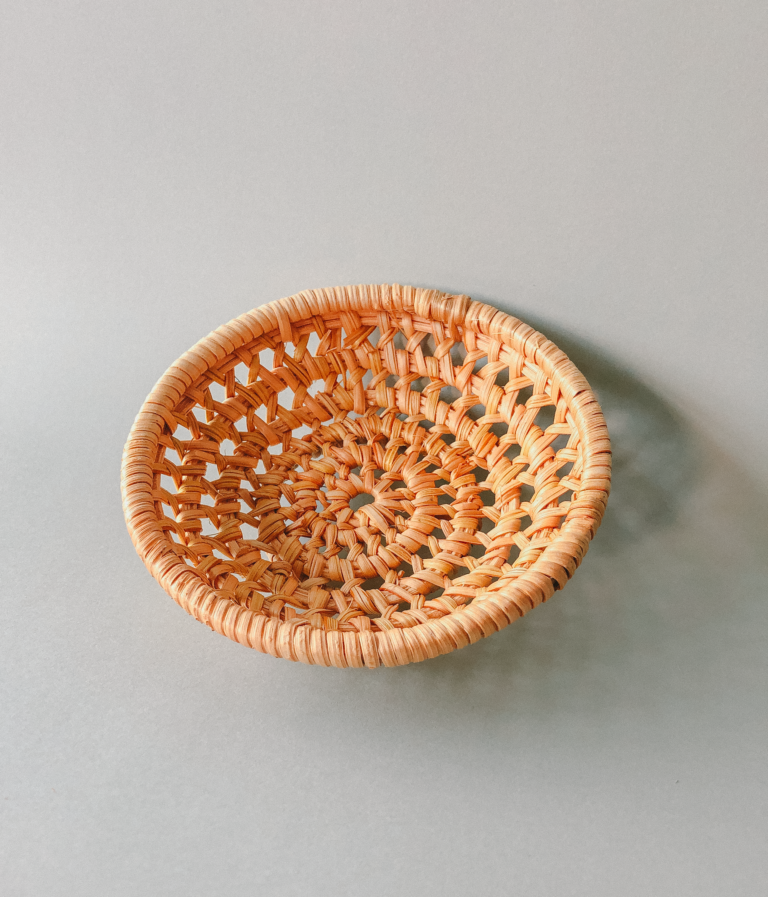 Handwoven Rattan Basket Coasters  by PROSE Tabletop