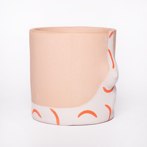 Group Partner Orange Hockney Pot
