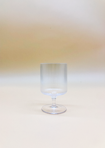 Vintage Ripple Goblet  by PROSE Tabletop