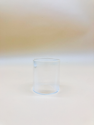 Vintage Ripple Rock Glass  by PROSE Tabletop