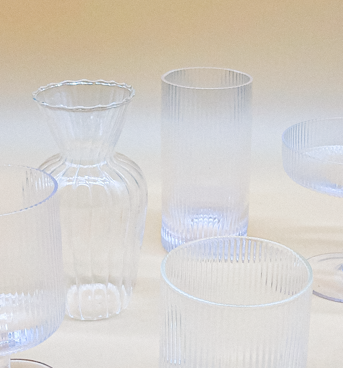 Vintage Ripple Water Glass by PROSE Tabletop