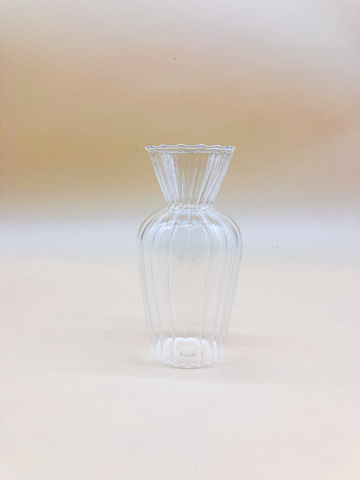 Handblown Ripple Vase by PROSE Botanical