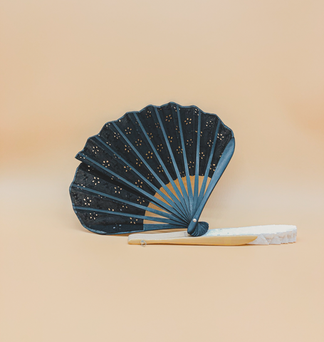 Broderie Fan in Black by PROSE Décor