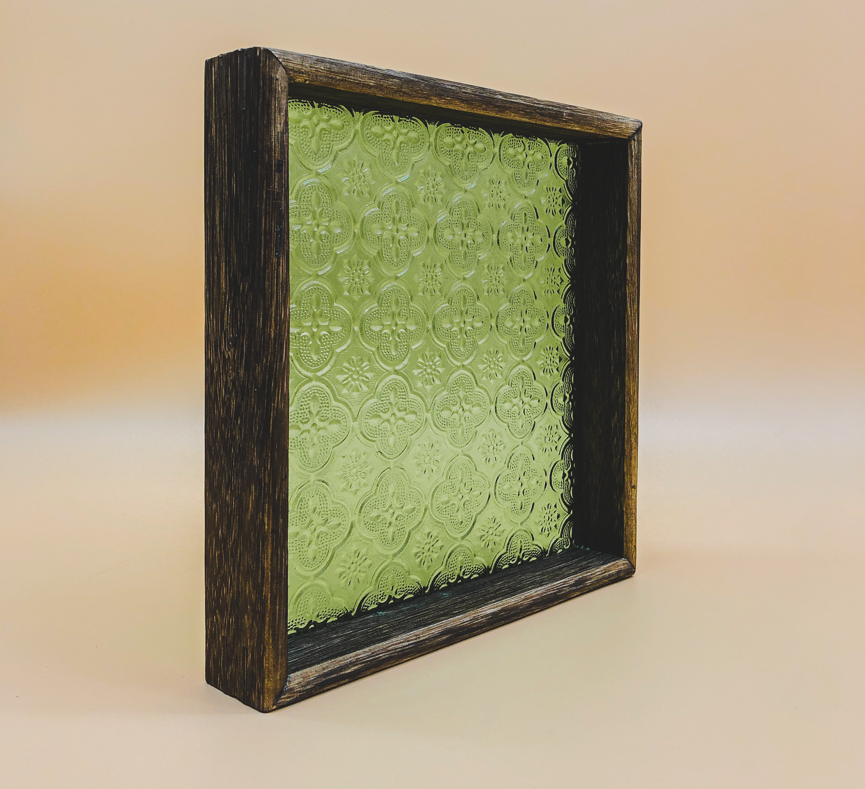 Vintage Style Reversible Square Tray (Green) by PROSE Tabletop