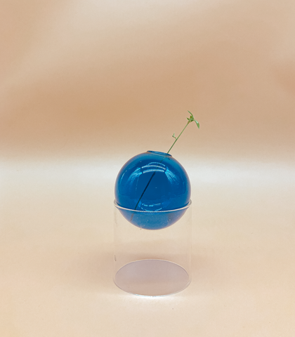 Fishbowl Mini Vase in Ultramarine by PROSE Botanical