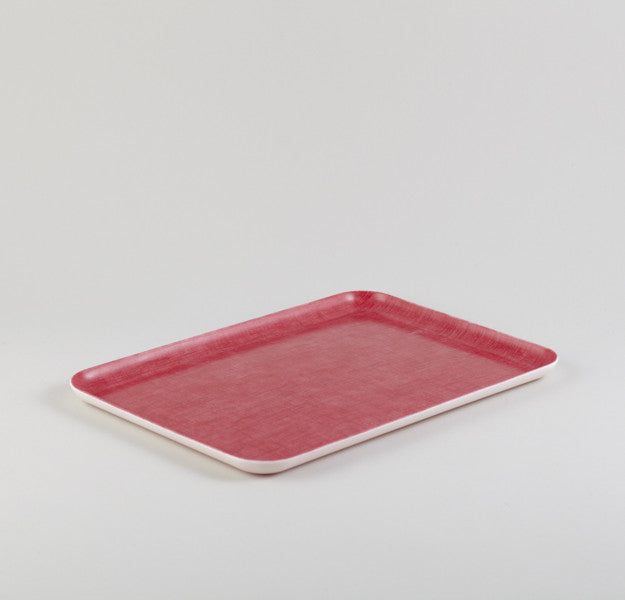 Red Rectangle Linen Tray