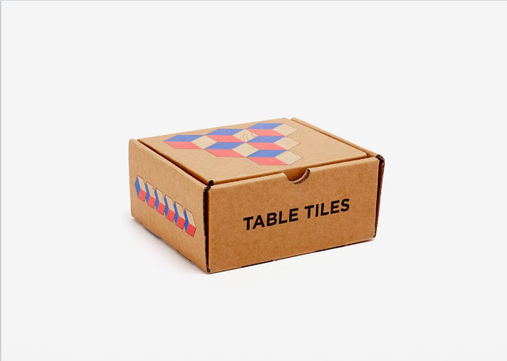 Table Tiles - Blue/Red