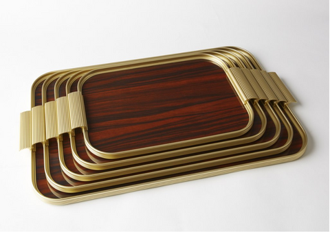 S14 Ribbed Gold Tray - Small