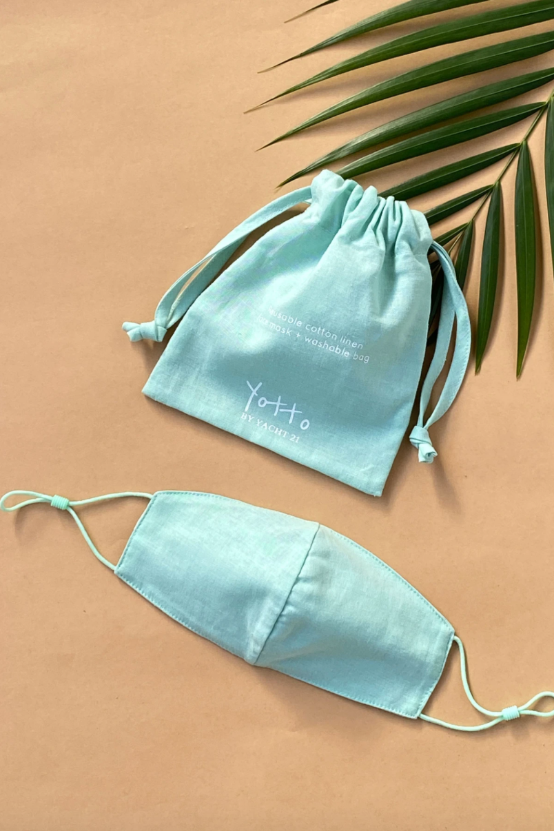 Mint Reusable Face Mask & Bag by YOTTO V.2
